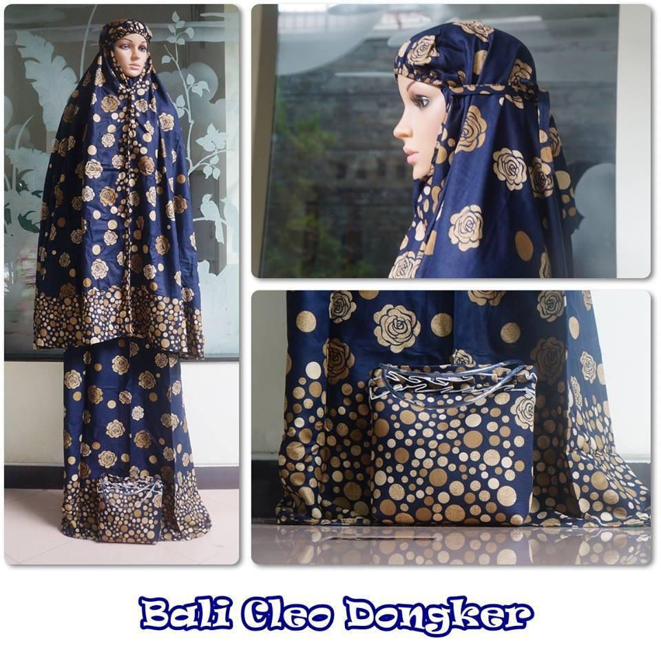 Mukena Cleo Dongker Motif Flower Bahan Rayon Murah Difa Store Dress Cantika Dr Baju Muslim Anak Perempuan Spandek Biru