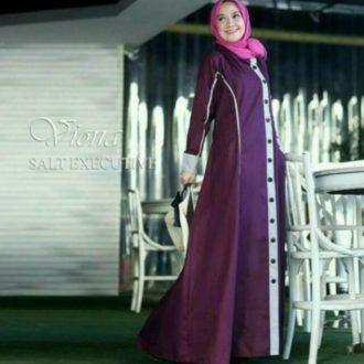... GAMIS SYARI MOTIF MISBEE MIS. Source · 4330-baju-dress-viona-ungu-polos-bahan-balloteli-