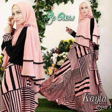 Kedaibaju Pakaian Muslim Baju Muslim Murah Syari Hijab Gamis Source Rosalinda peach putih .